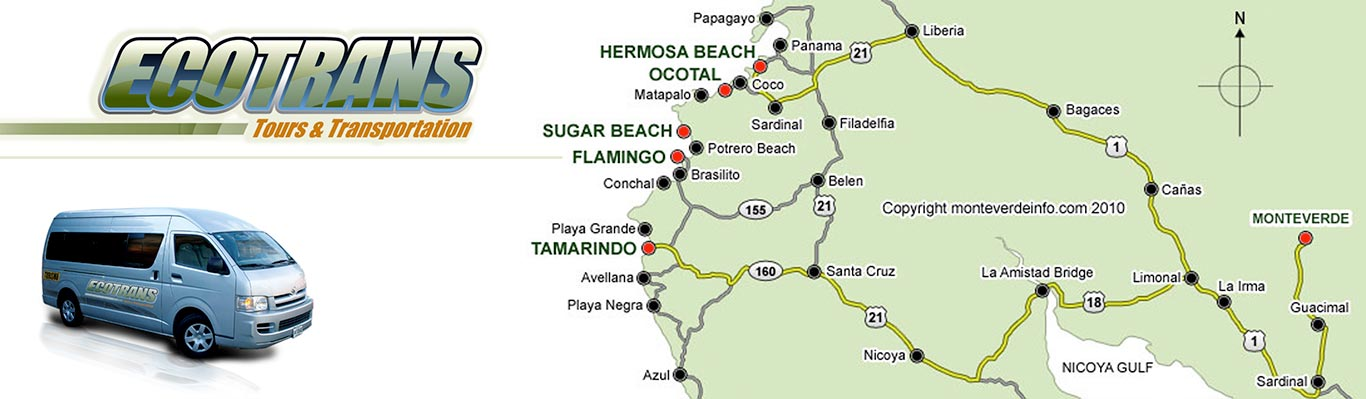 Costa Rica Map - EcoTrans